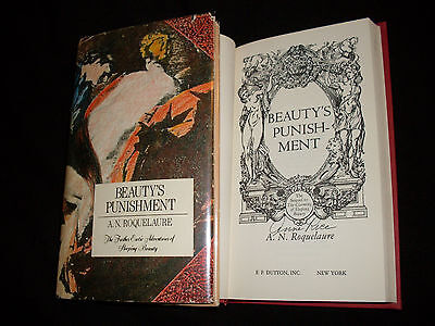 Anne Rice Signed Beautys Punishment 1St Printing Hardcover Book A N  Roquelaure