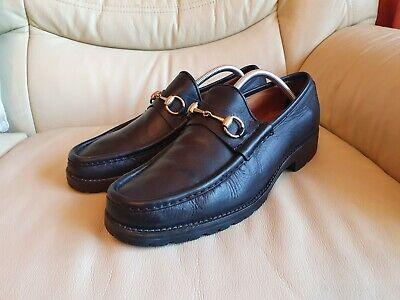 Gucci Vintage Mens Brown Black Horsebit Loafers UK  11     US 12   EU 45
