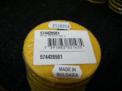 Husqvarna P1245 3 400 Grit Dry Resin Concrete Polishing Pad Yellow Velcro 9 Ea.