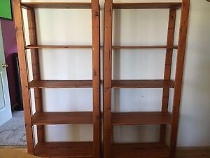 Two wooden bookcases St Clair Penrith Area Preview