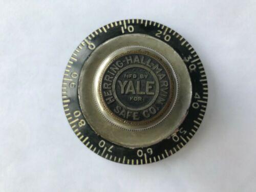 YALE LOCK CO. - COMBINATION LOCK DIAL FROM VAULT DOOR - 1910