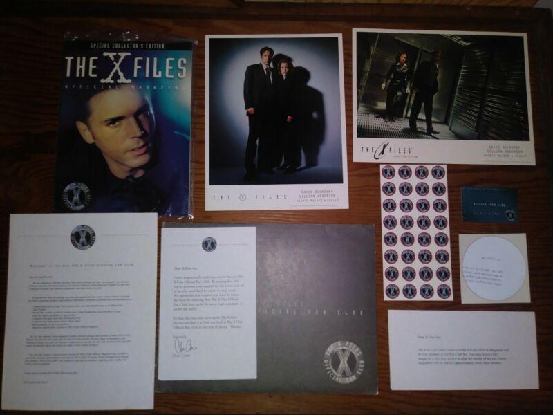 x-files Fan Club Pack Rare Complete Card Magazine Photos Sci- Fi Rare