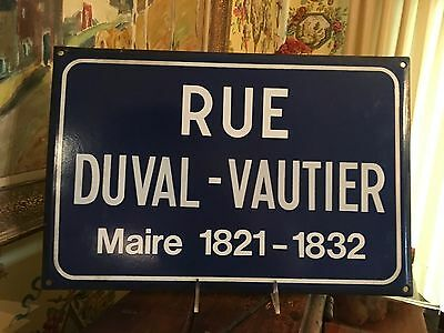 Antique French Enamel Street Sign - French Street Sign
