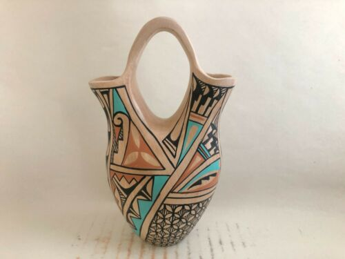 Native American Jemez Pottery Vase Clara Gachupin
