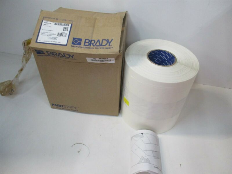 """Brady (148821) 3"""" x 5"""" 500 ft Nonmagnetic Polyester Clear/White Floor Stencil"""