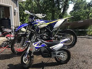 2015 Sherco 300cc 4 stroke and 2015 Sherco kids electric