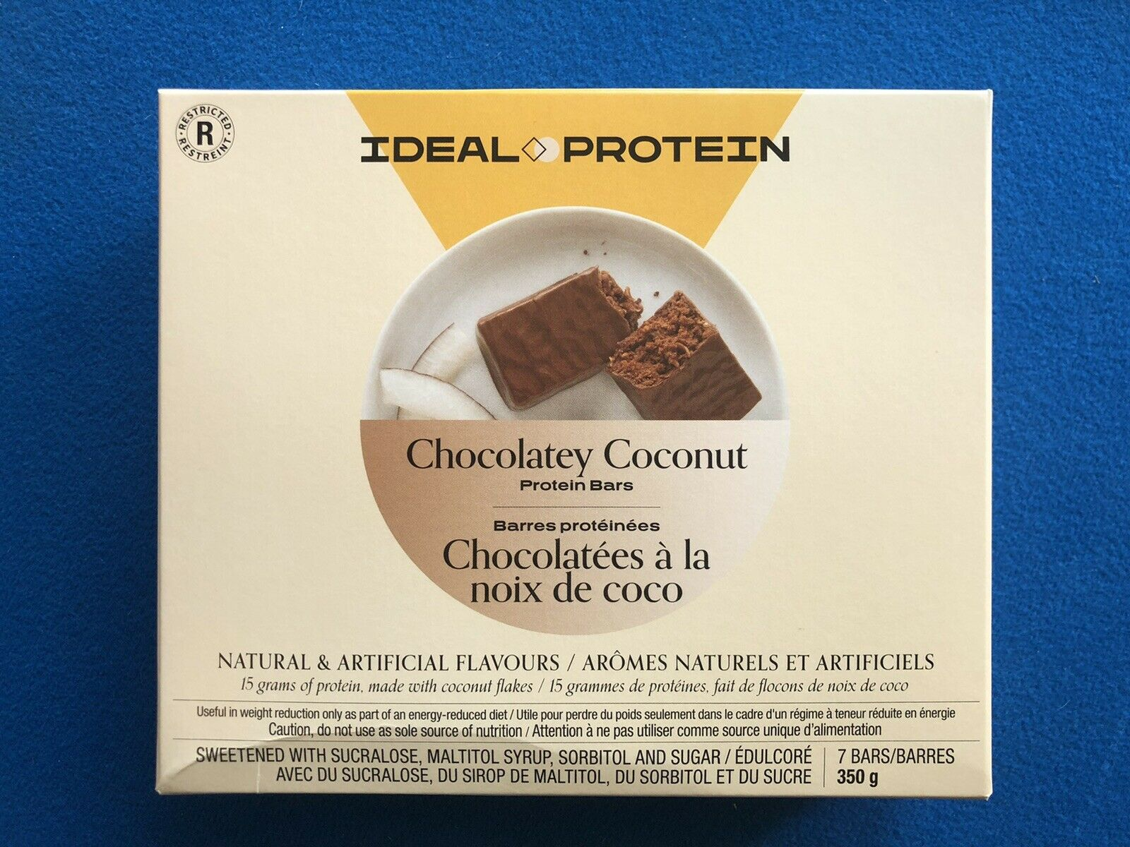 Ideal Protein Chocolatey Coconut Protein Bars - 7 Bars - EXP 12/31/21  FREE SHIP