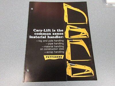 Rare Pettibone Cary Lift Sales Brochure