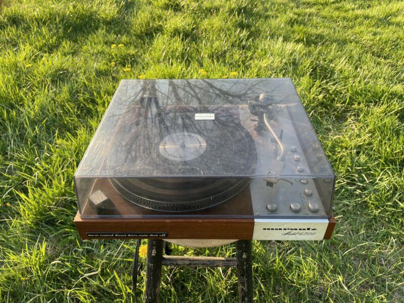 Vintage 1976 Marantz 6300 Turntable - Excellent Condition.
