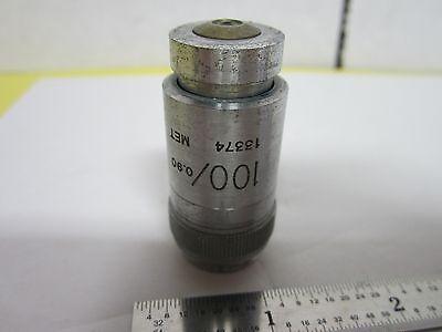 Vickers England Objective Microplan 100x Microscope Optics Binh1-16