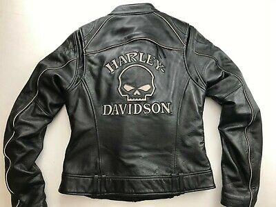 HARLEY DAVIDSON WILLIE G REFLECTIVE SKULL 3 IN 1 LEATHER JACKET XL 98152-09VW