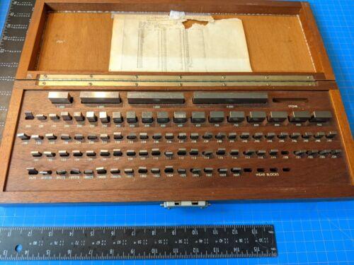Vintage Brown Sharpe .050 to 4 inch Gage Blocks Inspection Setup Gauge
