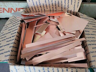 10 Lbs. Copper Clad Laminate Single Double Sided Trimmings. Free Shipping.