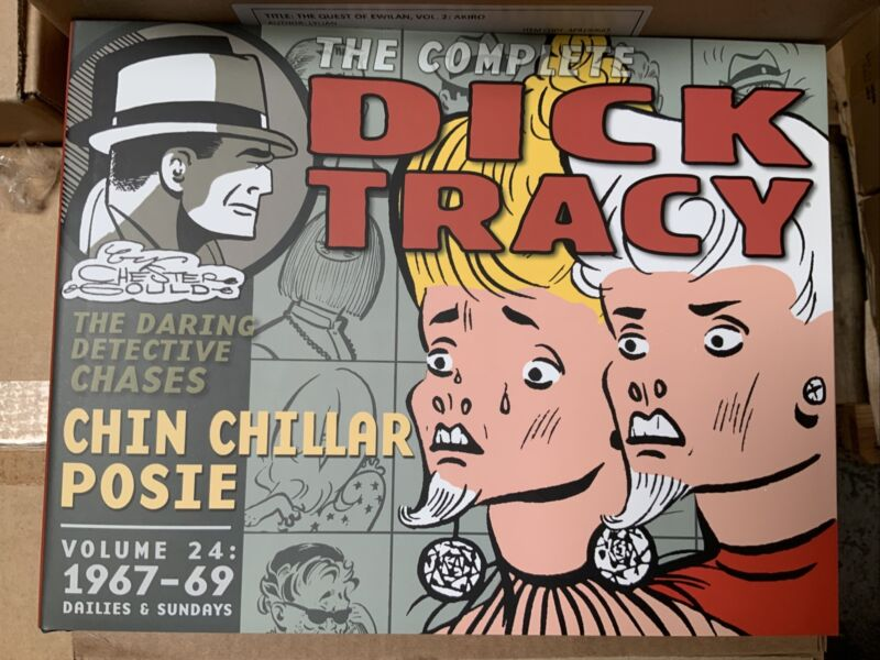COMPLETE  DICK TRACY DAILIES & SUNDAYS VOL. 24: 1967 - 69 : NEW HARDCOVER : LOAC