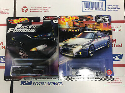 LOT OF 2 HOT WHEELS NISSAN SKYLINE GT-R FAST & FURIOUS AND BOULEVARD FREE SHIP