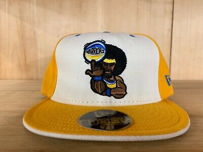Vintage Fitted Cap (VINTAGE NEW ERA GOLDEN STATE WARRIORS FITTED HAT CAP YELLOW WHITE 59FIFTY )
