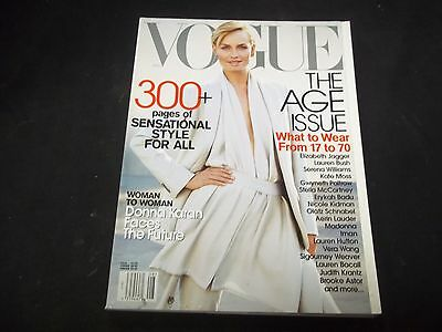 2001 August Vogue Magazine   Amber Valletta   Fashion Models   O 1192