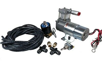 Motorcycle Bagger Air Ride Suspension Modification Kit with HornBlasters Valve