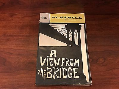 1967 Playbill  A view from the Bridge Charles Playhouse