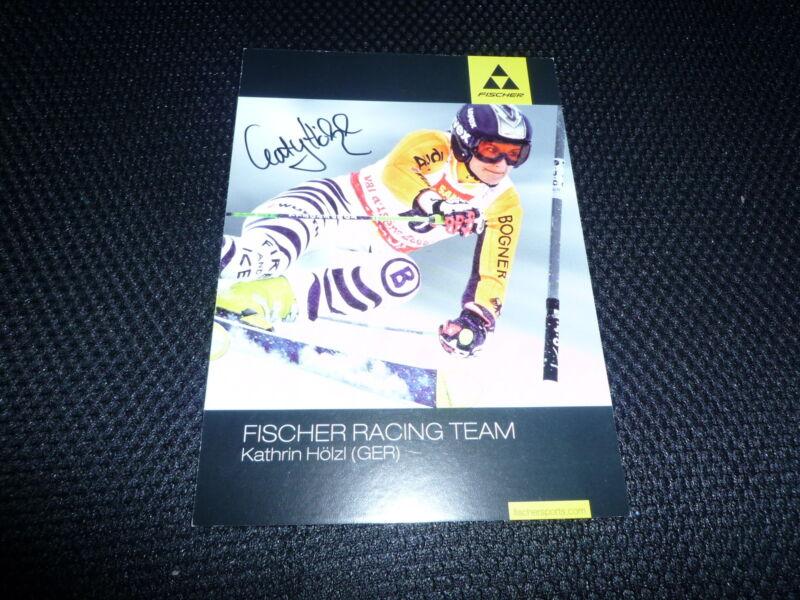 KATHRIN HÖLZ  signed Autogramm  10x15 cm WELTMEISTERIN Slalom