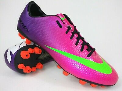 Nike Mens Rare Mercurial Veloce AG 555609 635 Purple Pink Soccer Cleats Size 8