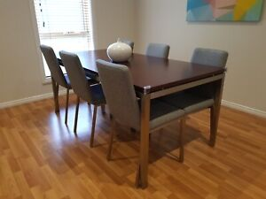 Dining table and chairs - Freedom Furniture Signature Range