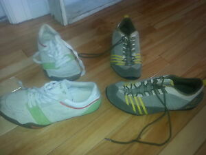 two pair of sneakers size 8