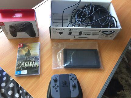 Nintendo Switch + Pro Controller + Legend of Zelda