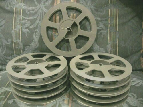 9- 400ft 16mm gray Goldberg film REELS NEW Plastic!