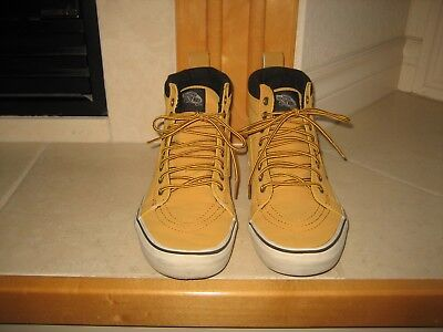 ~ Vans Off The Wall~ Mustard Hi Top Athletic Skateboard  Shoes~ SZ  M 8~ W 9.5~