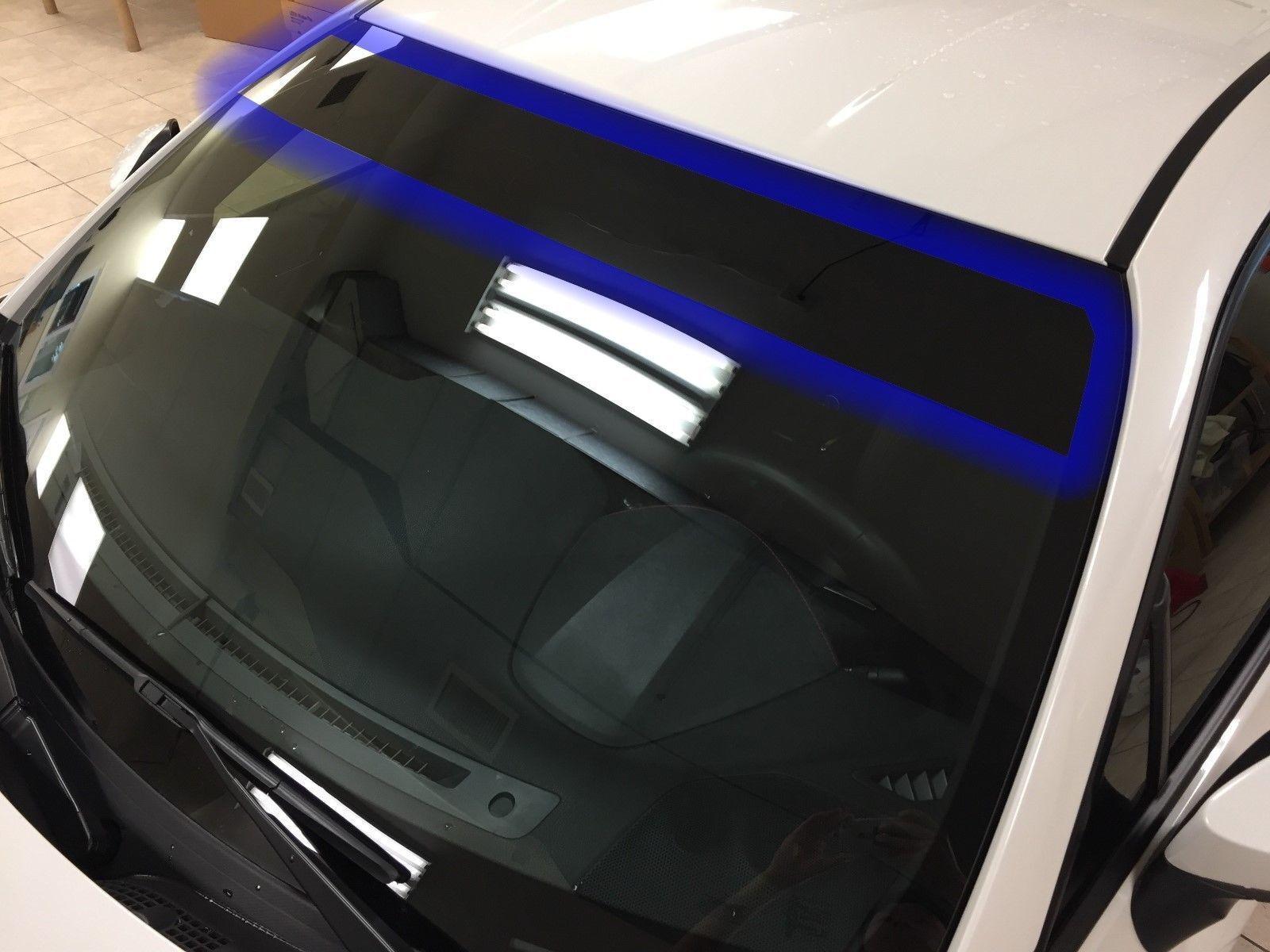 Sun visor strip windshield