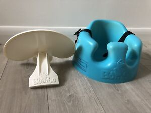 Bumbo Chair with tray and straps. Like new