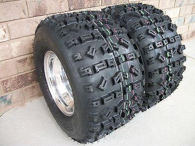 (2) Tire Wheel Rim Kit 6 Ply Rear 22X11-10 Suzuki LT 500R QuadRacer