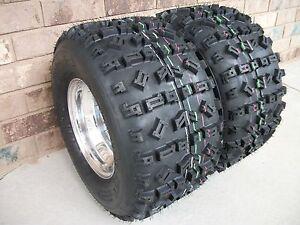 (2) Tires Wheels Rims Kit 6 Ply Rear 22X11-10 Honda TRX 700XX