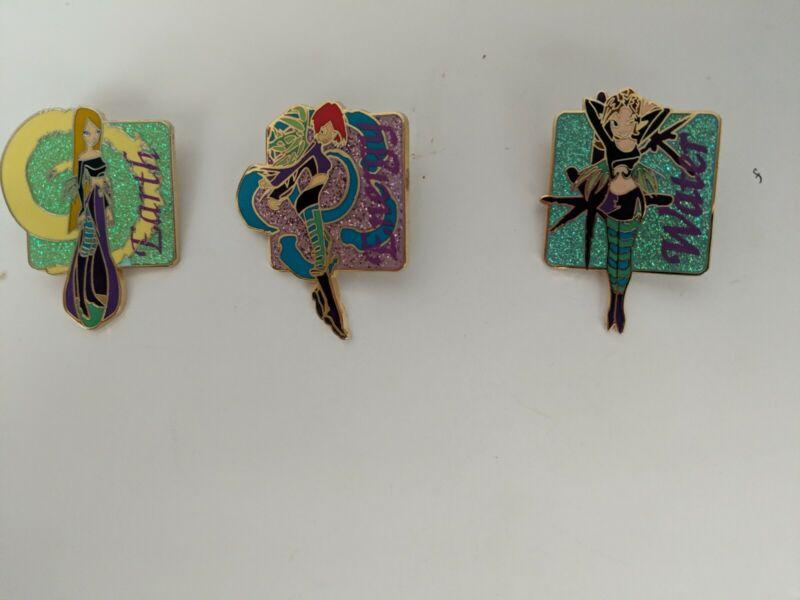 Disney Pins - Disneyland Paris Pins - W.I.T.C.H Disney Book Series - 3 Pin Lot