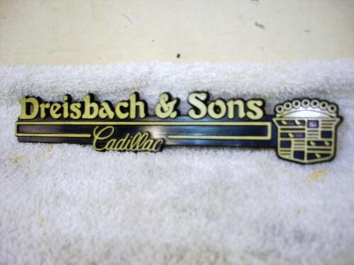 Vintage / Rare CADILLAC Car Dealer DREISBACH & SONS DETROIT, MICHIGAN Emblem