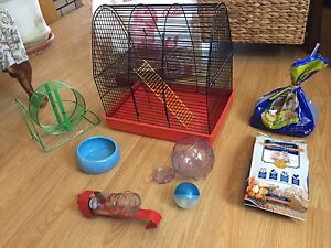 Gerbil/hamster/mouse cage and accessories