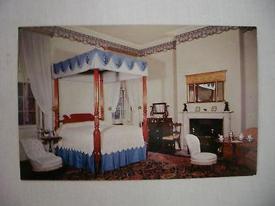 VINTAGE POSTCARD A BED ROOM IN THE OWENS-THOMAS HOUSE SAVANNAH GEORGIA - Savannah Bedroom Collection