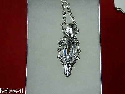 USA - Lord Of The Ring Galadriel Crystal Necklace Phial Pendant Hobbit Costume (Costume Of Usa)