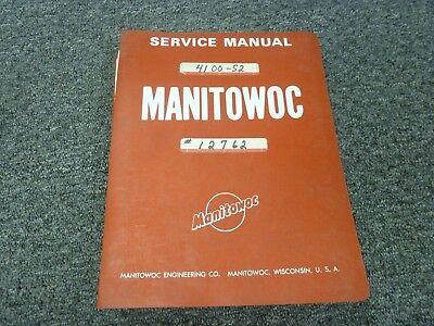 Manitowoc 4100w Series 2 Vicon Crawler Crane Shop Service Repair Manual