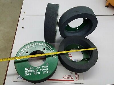 Carborundum Surface Grinder Grinding Cup Wheel 12x 3x 5 Arbor Plate Mounted