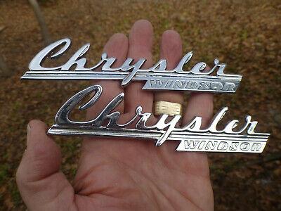 (1 or 2) 1940 Chrysler Windsor hood emblem badge