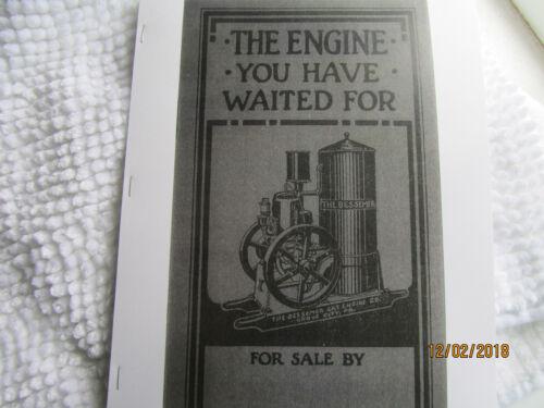 Bessemer Gas Engine 2-12HP Gas Kero Vertical Catalog