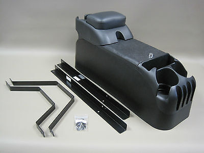 (P71 Black Center Console w/Armrest with No Drill Mount Kit Crown Victoria Police)