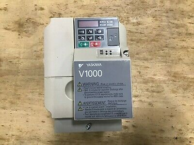 Yaskawa V1000 Ac Drive Cimr-vu4a0005faa With Si-em3v Ethernet Mod Bus