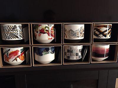 Eight Starbucks Coffee Mugs Artisan Series  NWT 12 oz Each Conceive of Tells a Story