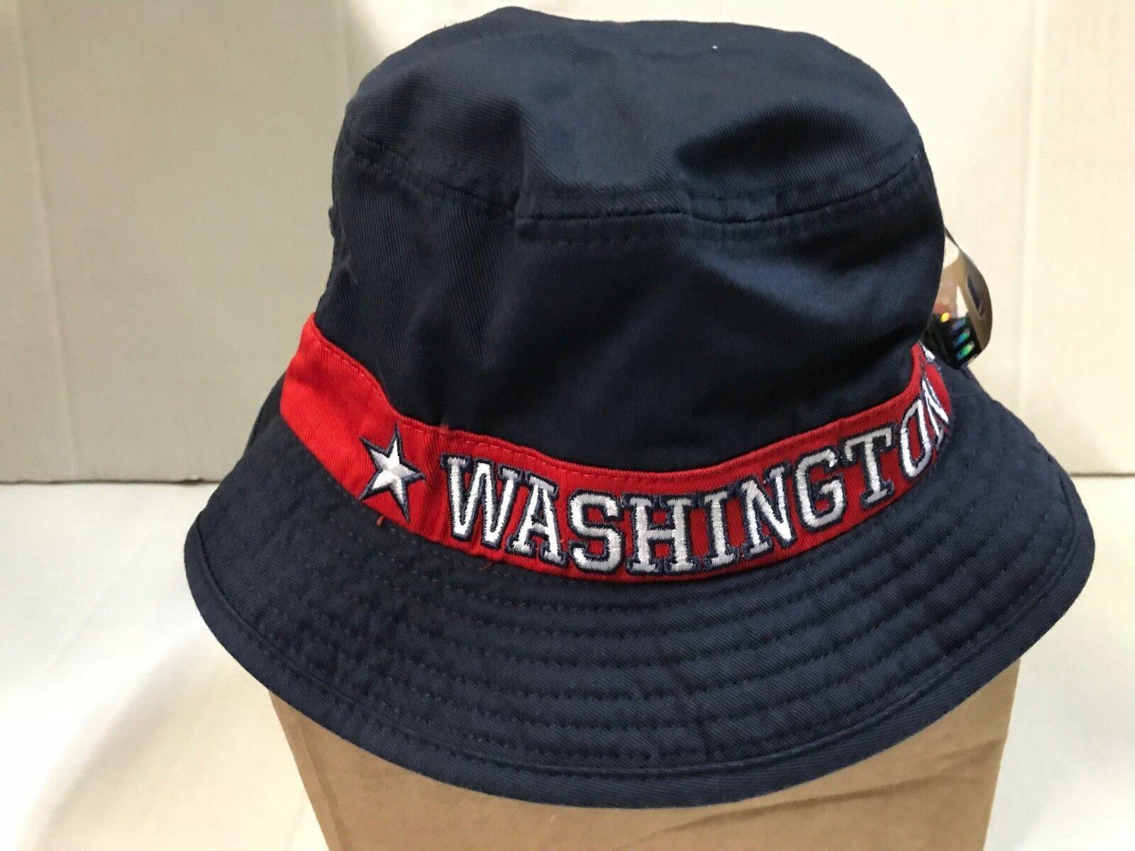NBA WASHINGTON WIZARDS ADIDAS MEN'S  BLACK/RED BUCKET HAT SI