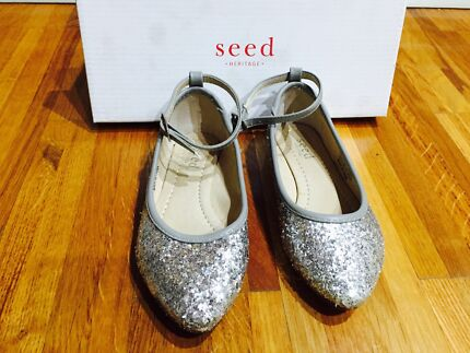 Seed Glitter Point Ballet Girls Shoes Size 27 Burwood Whitehorse Area Preview
