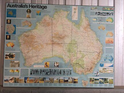 Retro vintage world map other home decor gumtree australia map australias heritage gumiabroncs Image collections