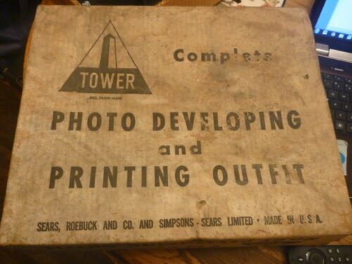 VINTAGE  HOME TOWER FILM PHOTOGRAPHIC DEVELOPING EQUIPMENT DARKROOM SEARS